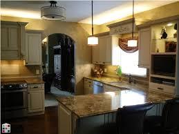 brown pendant light wonderful custom kitchen glazed cabinets ideas white drum shade