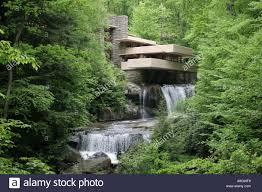 fallingwater by frank lloyd wright mill run pennsylvania usa stock