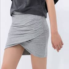 Draped Skirts Zara Zara Grey Draped Skirt From Megan U0027s Closet On Poshmark