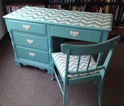vintage desk u0026 chair chevron makeover chevron desk chalk paint