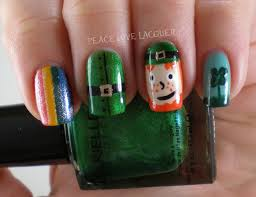 peace love lacquer luck of the irish nail art challenge day 3