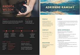 Exceptional Creative Resume Designs Tags Creative Resume Tips For Photographers