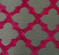 Geometric Fabrics Upholstery Trellis Modern Geometric Magenta And Chocolate Chenille Heavy Duty