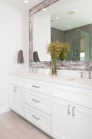 White Bathroom Cabinet Gorgeous Custom Vanity With Crisp White Cabinets And White Quartz
