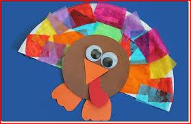 turkey arts and crafts for kindergarten project edu hash