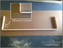 remodelaholic turn an ikea shelf into a pottery barn ledge