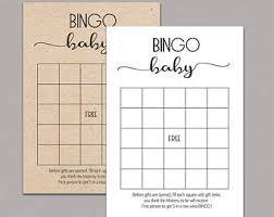 bingo cards etsy