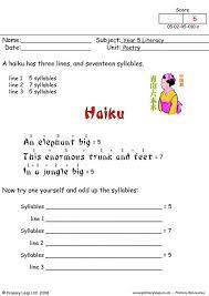 primaryleap co uk poetry 1 haiku worksheet
