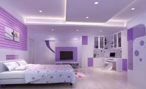 Purple Bookcase Pink Bedroom Decorating Ideas Pink Paint Cabinet Beside