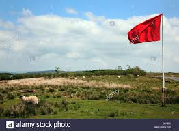 Use Flag Red Flag Warning That The Army Firing Ranges Are In Use On Garth
