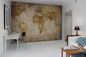 World Map Wall Decor For Creative Home fice Design Ideas With