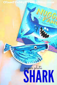 turn a simple paper plate half into a shark simply cut a paper