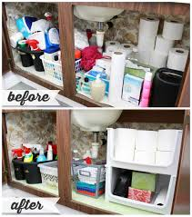 Cabinet Organization High Low Bathroom Cabinet Organization Just A And Her Blog