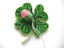 four leaf clover paper ornament st day paper quilling
