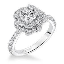 flower halo engagement ring 96 best artcarved engagement rings images on