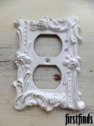 Decorative White Outlet Covers Unique Ceramic Switch Plates