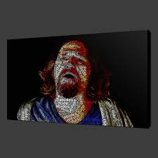 big lebowski film typography canvas wall art pictures prints 20