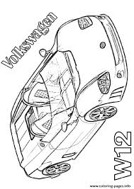 volkswagen w12 sports car coloring pages printable