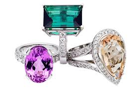 coloured gemstone rings images Black engagement rings jpg