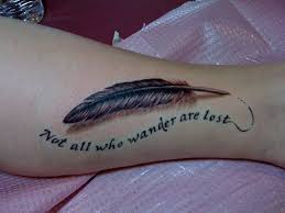 feather hmm idea to a feather above a quote like