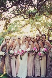 mix match bridesmaid dresses glam destination hawaii wedding at andaz at wailea