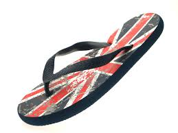 boys girls kids union jack england sandals flip flops toe posts