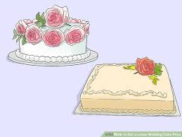 wedding cake prices 3 ways to get a lower wedding cake price wikihow
