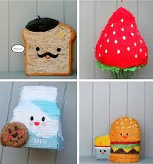 themed pinata food themed piñatas by whack piñateria things