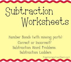 free subtraction worksheets subtraction ladders word problems