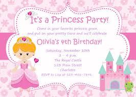 Create Birthday Invitation Card Online Free Princess Birthday Invitations Plumegiant Com