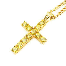 yellow diamonds necklace images Remus cross in canary veritas jpg