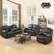 Discount Leather Sofa Sets Leather Sofa Set Ebay