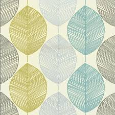 Kitchen Wallpaper by Teal Lime Green 408207 Retro Leaf Motif Arthouse