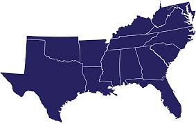 Southern States Map by Camp Map The Salvation Army Usa Official Southern Territory