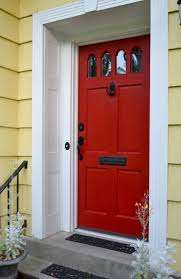 Light Yellow House by Doors Painted Red U0026 Front Door Paint Colors Paint Ideas For
