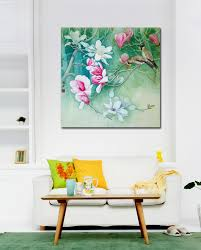 Chinese Home Decor by Aliexpress Com Buy Birds On Branch White Pink Flowers Picture