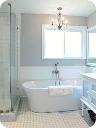 bathroom contemporary bathroom design with chandelier and