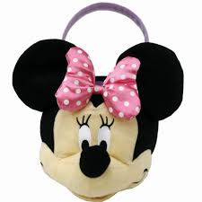minnie mouse easter baskets medium minnie mouse plush easter basket
