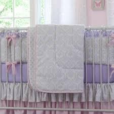 Lilac Damask Crib Bedding Lilac And Silver Gray Damask Crib Comforter Carousel Designs