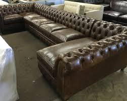 Chesterfield Sectional Sofa Beautiful Leather Chesterfield Sectional 97 In Living Room Sofa