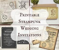 wedding stationery templates steunk wedding invitations