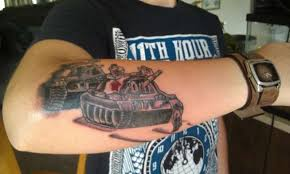 square tank man tattoo
