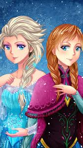 frozen elsa u0026 anna digital fan art wallpapers