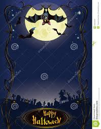 blue halloween background halloween background with funny bat and graveyard stock photo
