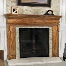 contemporary fireplace mantel wood