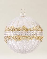 silver gold glass bauble set balsam hill