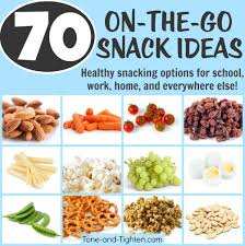 70 portable healthy snacks tone and tighten