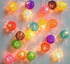 fairy light decoration ideas mixed colour rattan ball fairy light string lights 20 lanterns