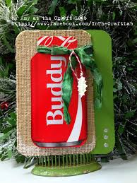 christmas card made from recycled materials coke box and sari