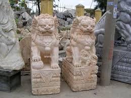 marble foo dogs marble foo dog statue temple lion carvings ngochoa245
